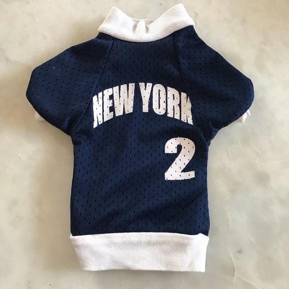outlet store 222a4 f9c12 Yankees Dog Jersey, #2 Derek Jeter, Navy & White